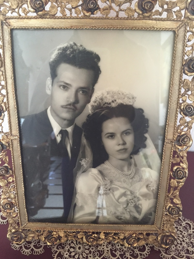 My grandparents on their wedding day. June 10th, 1949 at 8 o'clock in the morning!